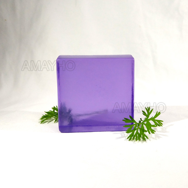Handmade lavender transparent soap bar