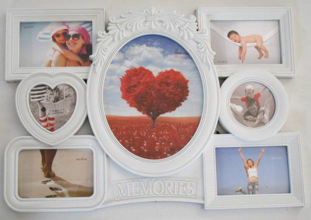 plastic photo frame/picture frame 7pcs