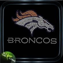 Sport team broncos iron on rhinestone transfer