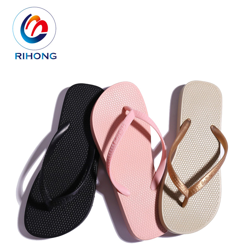 profession flip flop hand made small moq summer beach custom rubber women flip flop