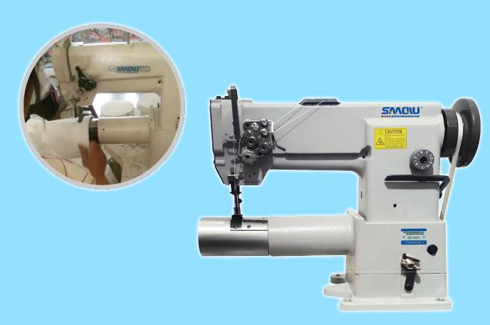 Filter bag sewing machine--tubular short arm filter bag sewing machine