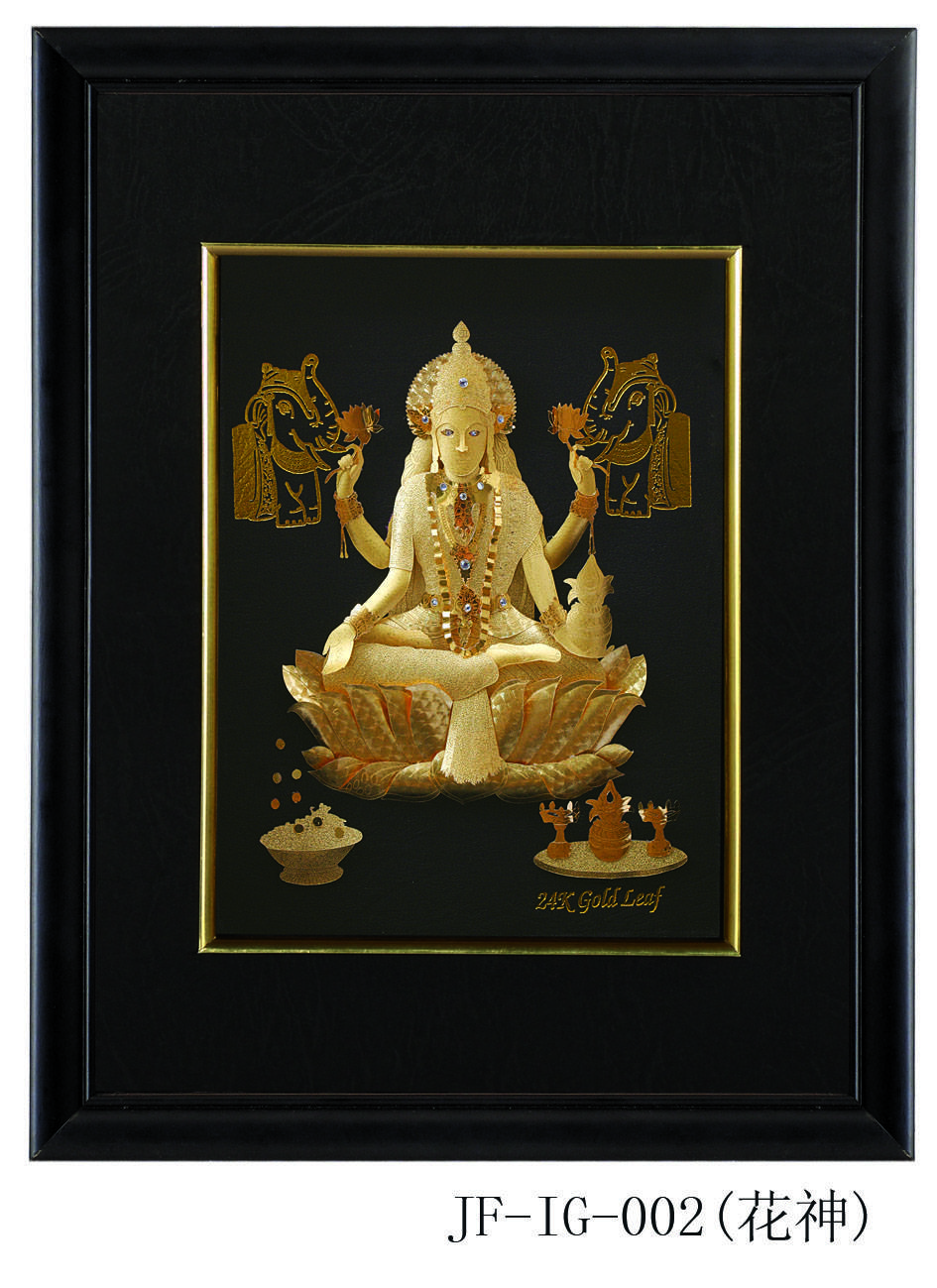 3D gold foil india god painting