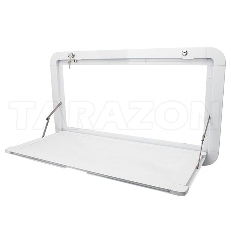 Universal White Aluminum RV Picnic Caravan Folding External Table