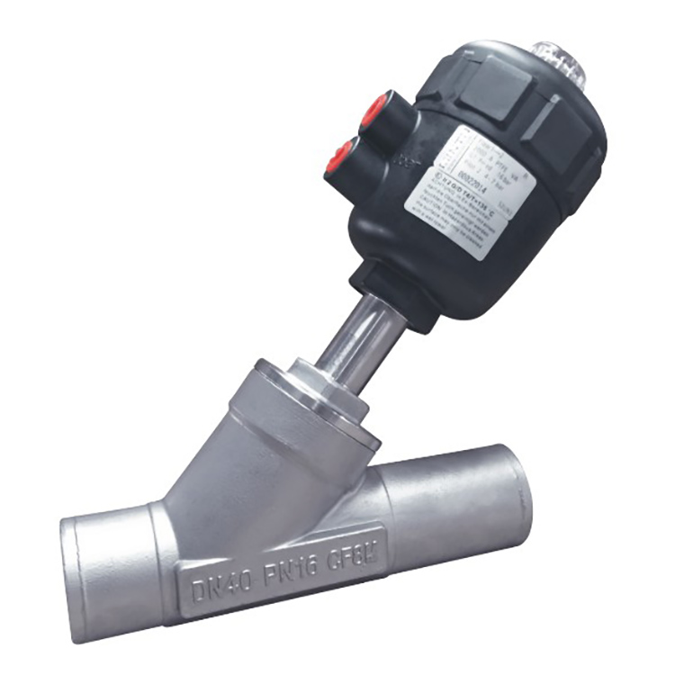 Welded Ends Pneumatic Angle Seat Valve with PPS Actuator