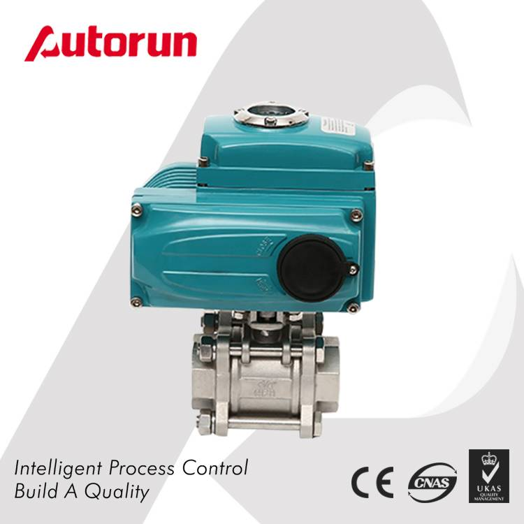 3-PIECE ELECTRIC ACTUATED BALL VALVE