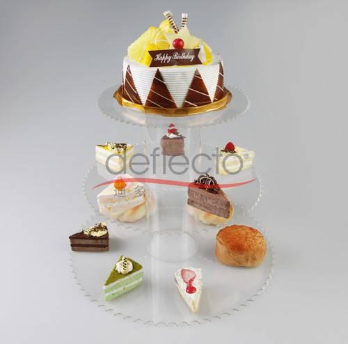 Deflect-o Acrylic Cake Display Holder,399x240(mm)