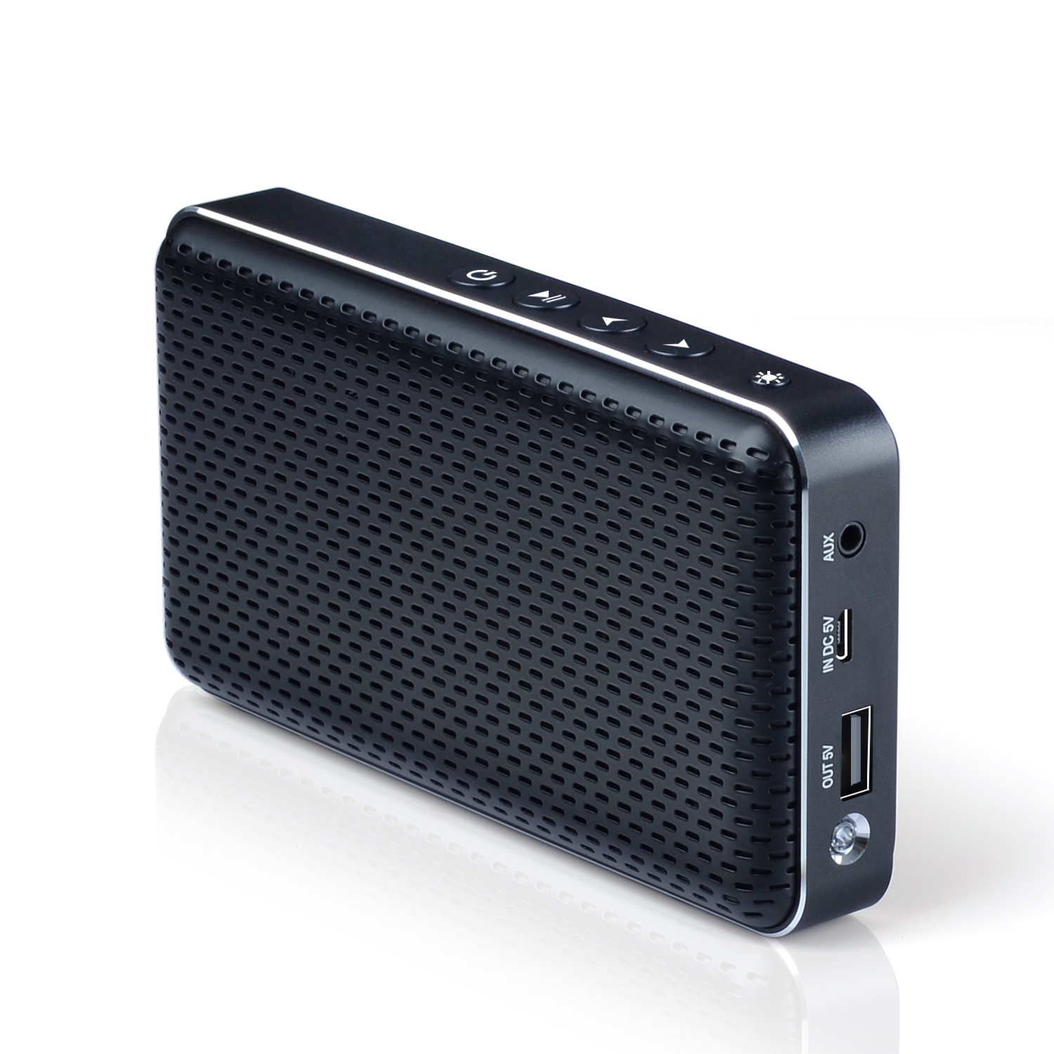 portable bluetooth speaker with Powerbank and flash torch