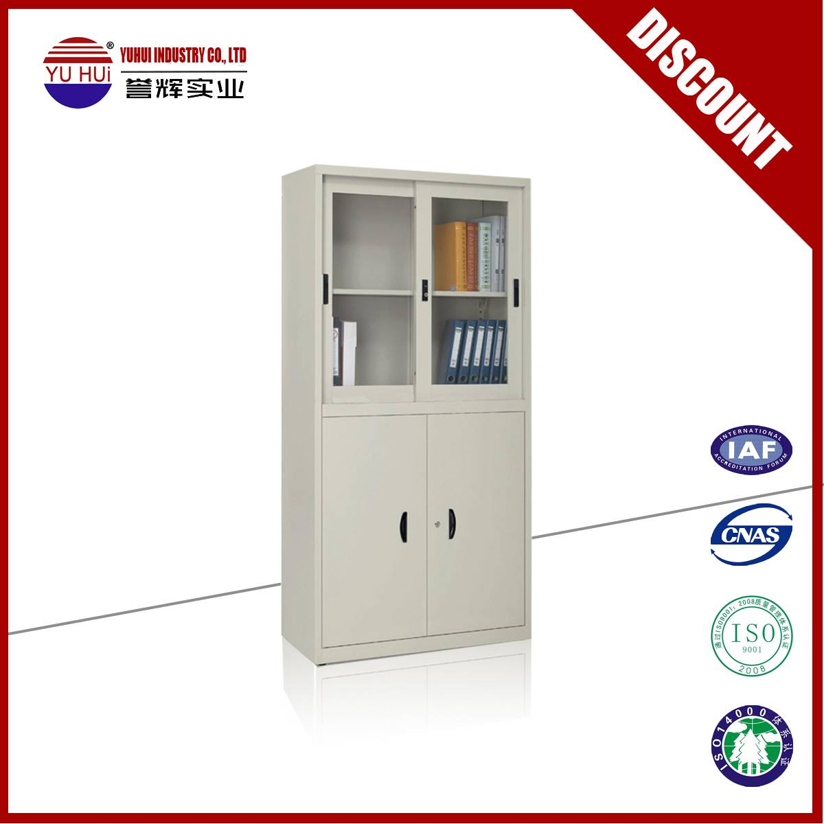factory produce grey 2 door file cabinet for sale