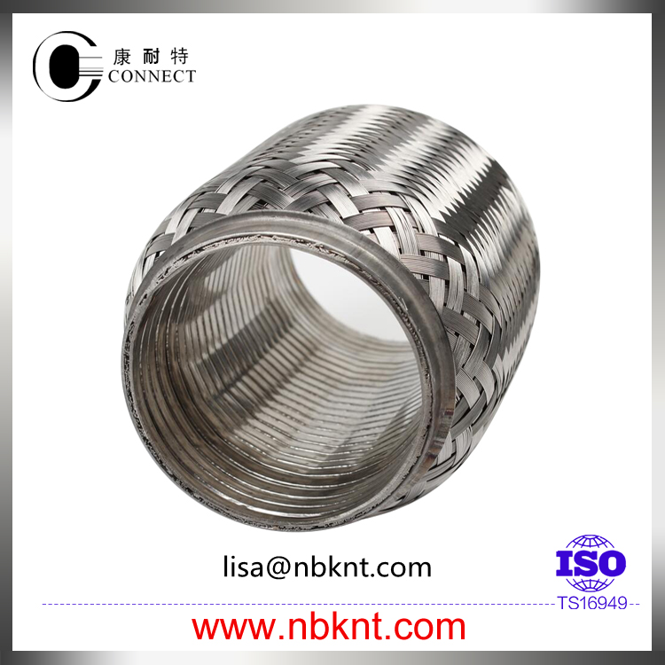 Automobile stainless steel exhaust flexible corrugated pipe with interlock