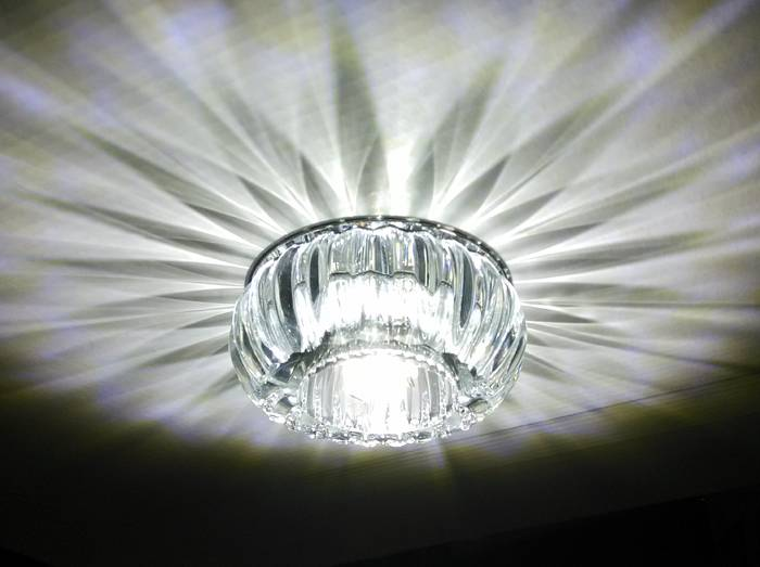 5W LED Crystal Ceiling Light 6 Colors Spot Light Indoor Down Light Cool/Warm White