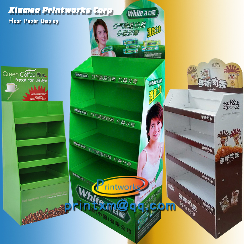POP UP Cardboard Display Stand Shelf Display