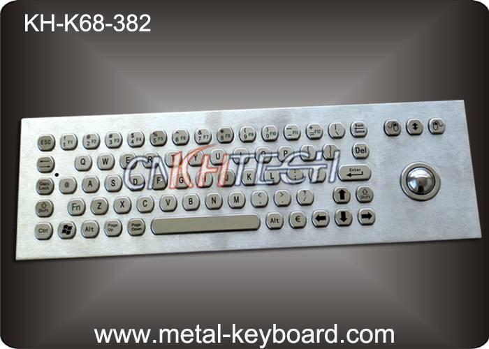 KH-K68-382 Rugged stainless steel panel mount keyboard,68 Keys PC-Keyboard Standard Layout, IP65 Wat