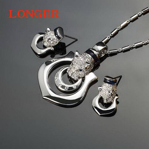 Fashion luxury tiger head AAA zircon necklaces for women