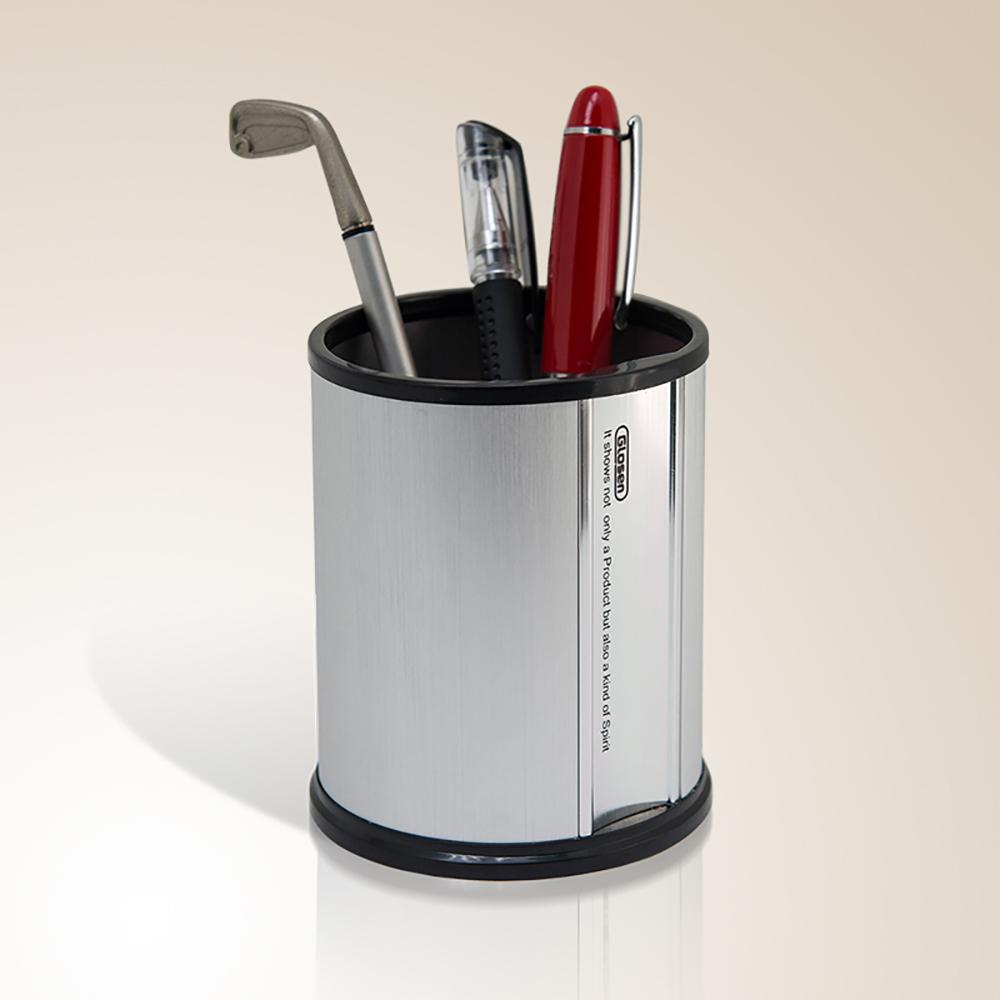 Glosen Round Shape Aluminum Pen Holder for Stationery Organizer C2002