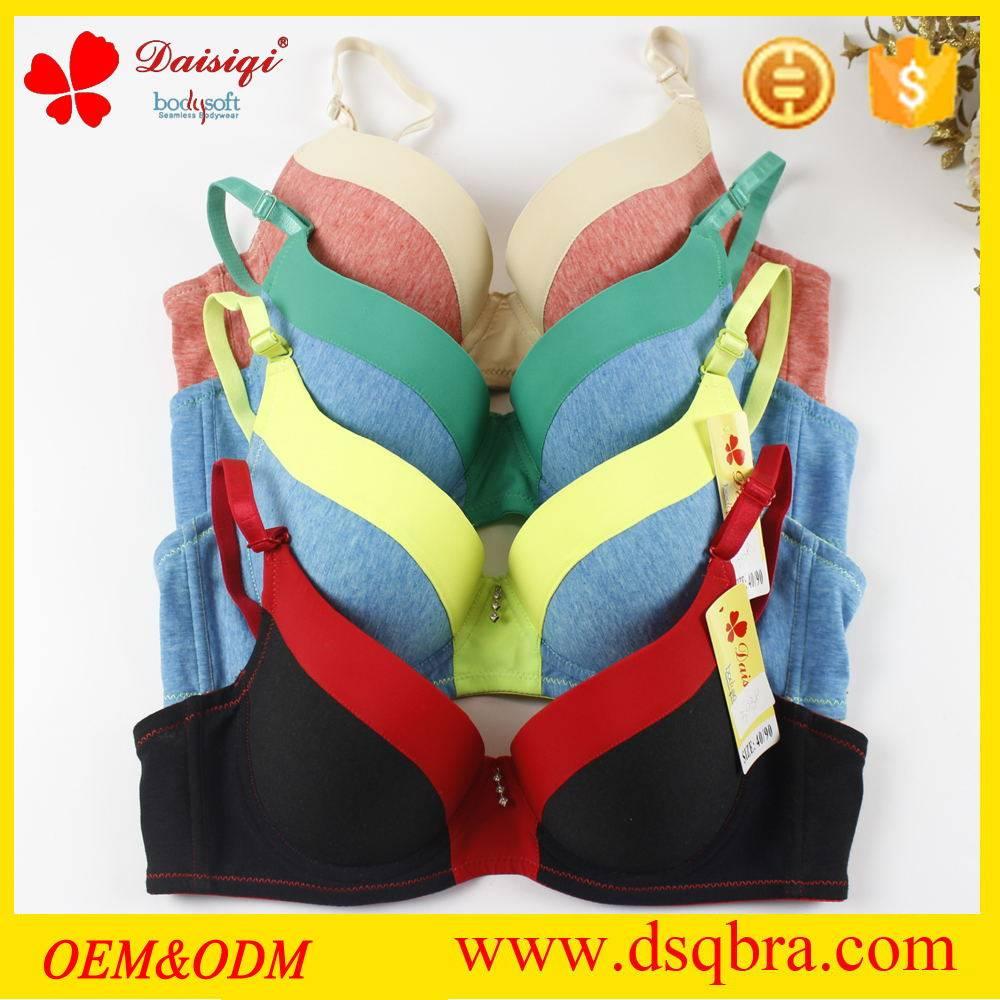 New design sexy mature ladies cotton padded push up underwear women bra