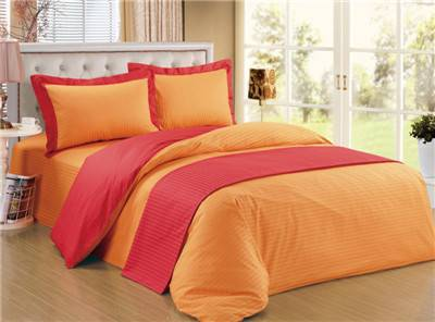 Two-color 5pcs bedding set polycotton duvet cover set