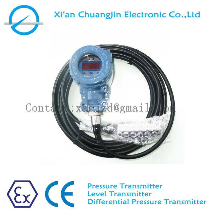 Submersible Water Level Sensor Level Transmitter With 4-20mA and LCD display