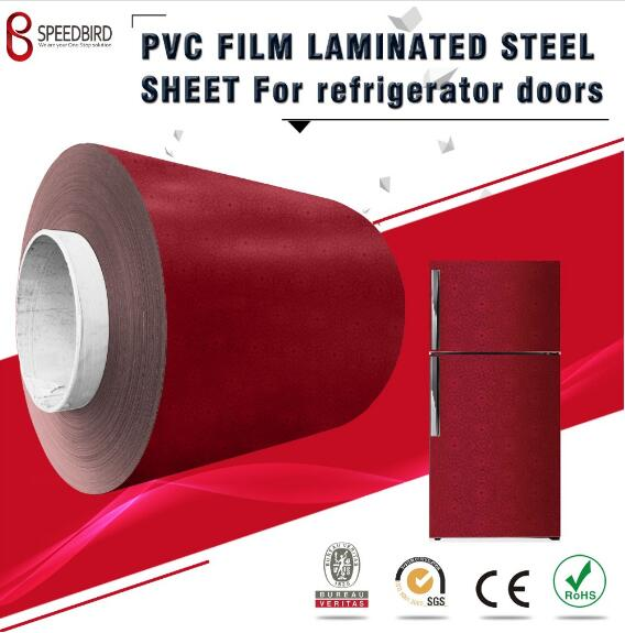 PVC laminated steel sheet for refrigerator parts panel&side panel