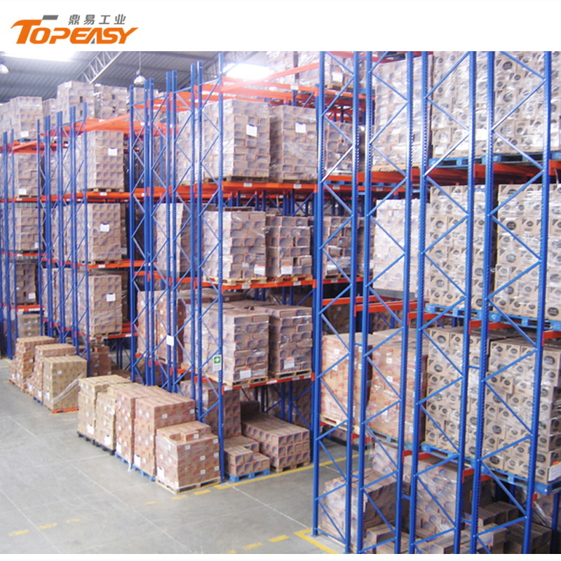 metal warehouse storage double-deep pallet rack