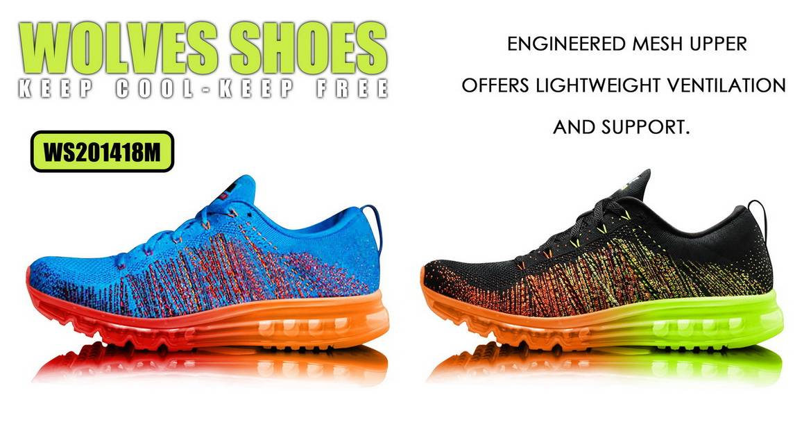 Wolves Flyknit 2014 Men's Running Shoes Sports Athletic Shoes