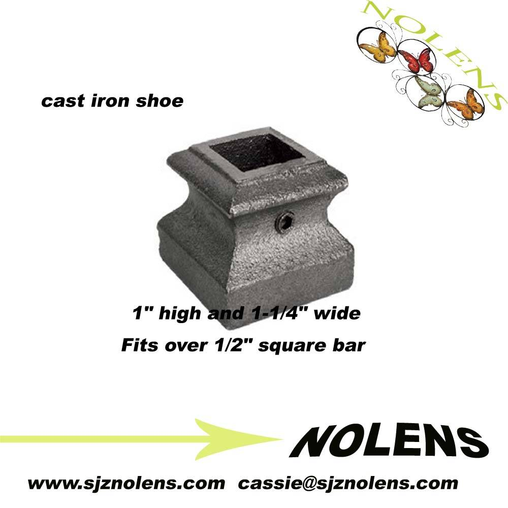 "Cast Iron Base Shoe for 1/2"" Square Bar/ Cast Iron Base Shoe for 1/2"" Square Ba"