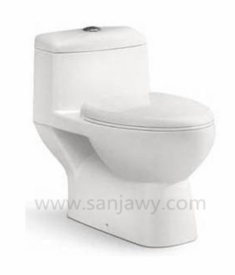 Sanitary ware washdown P trap lowest price gravity flushing ceramic toilet