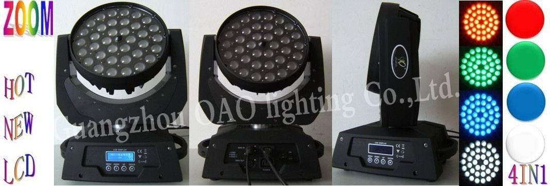 ZOOM 36pcs 10W RGBW LED moving head light