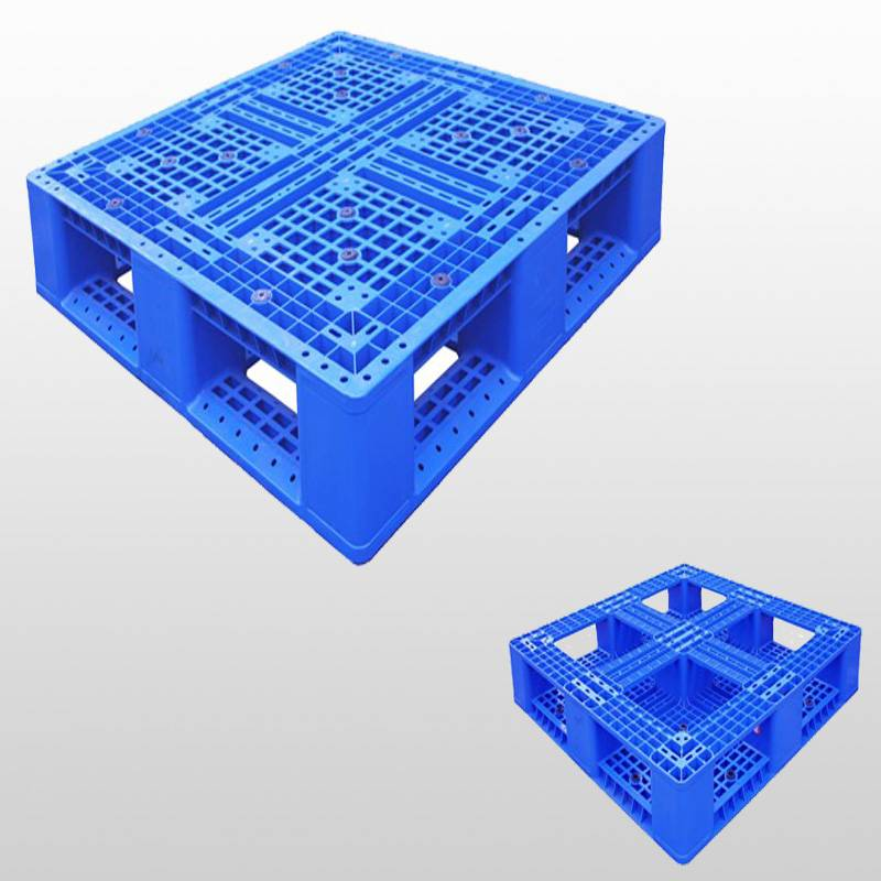 plastic pallet with picture frame bottom,grid. stackable,1000*1000*150