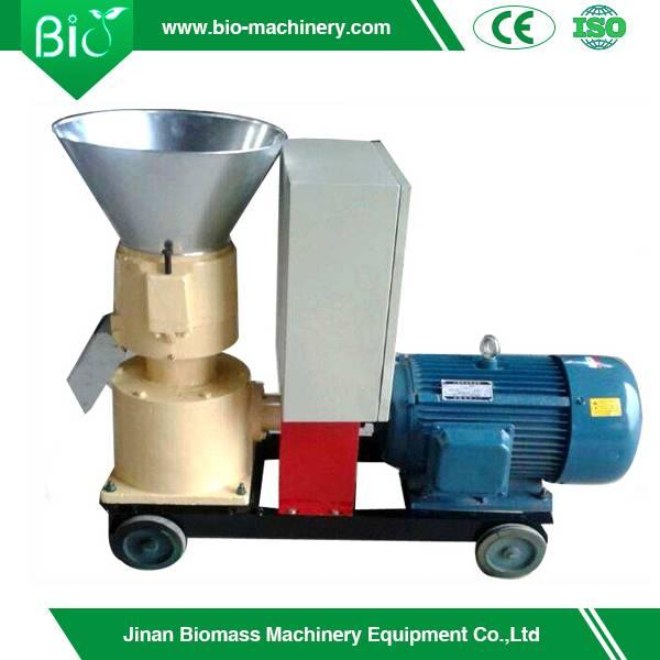 Homemade diesel wood pellet mill