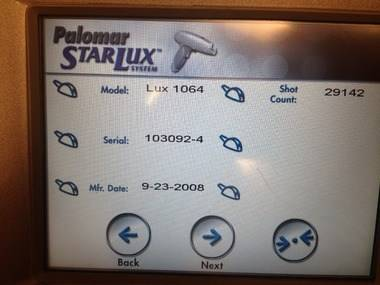 Lux 1064 nm Handpiece for Palomar Starlux 500