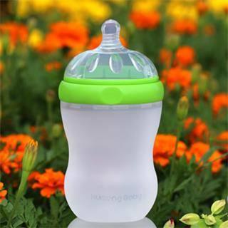 Kumeng Baby imitation breast extra wide caliber silicone baby bottle