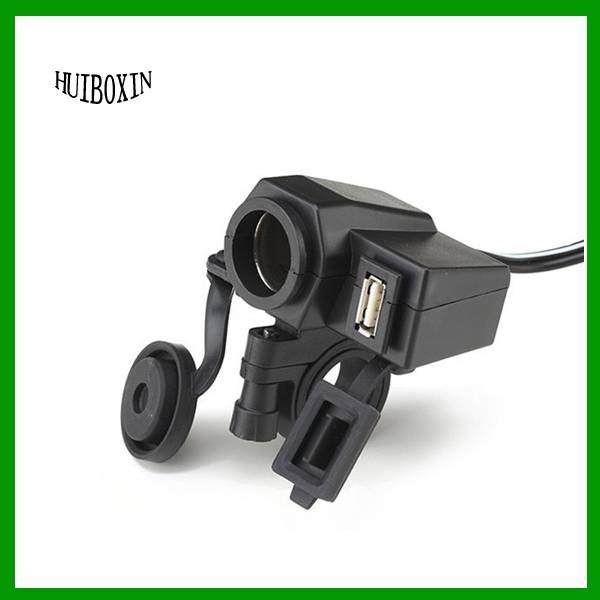 New Set Auto Car Motorcycle Cigarette Lighter Splitter USB Charger Socket DC 12V