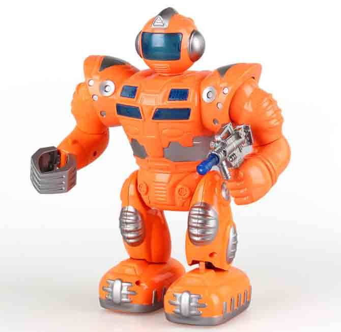 MIni Musician Cool spy-man battery Robot kids baby plastic toy
