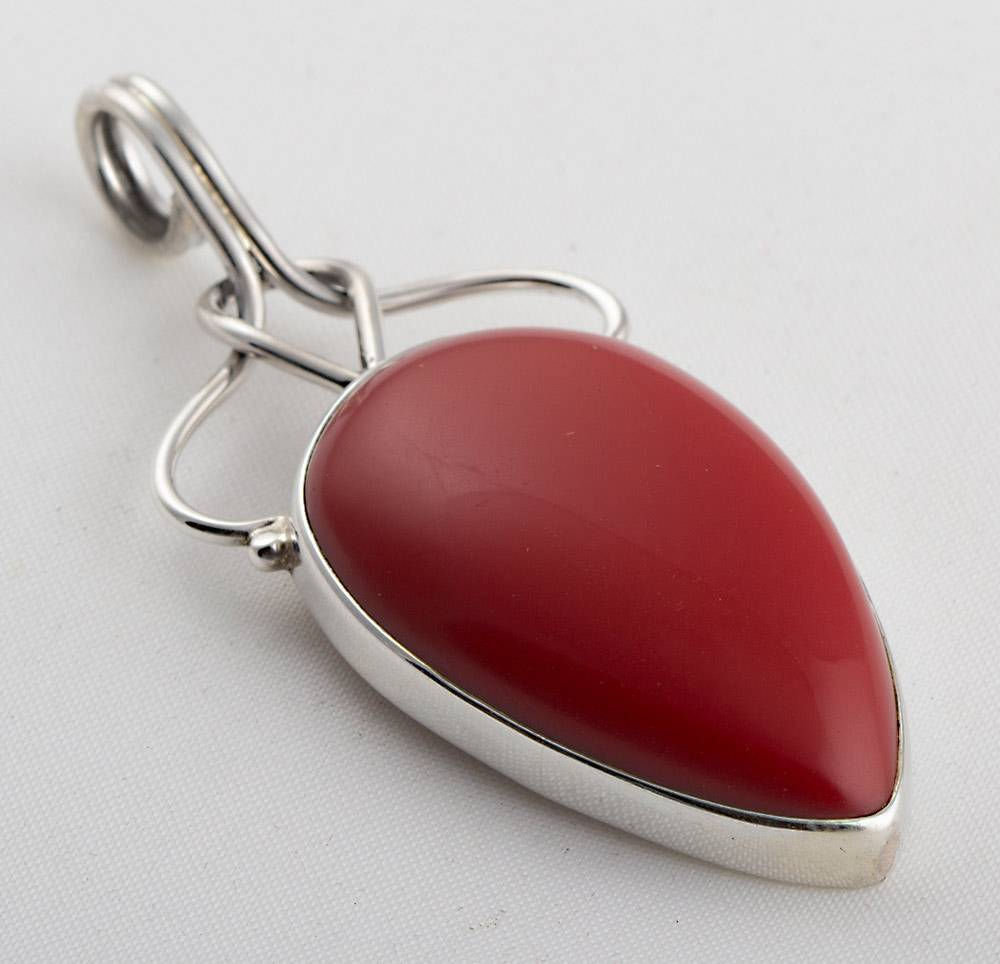 92.5 sterling silver Coral pendant