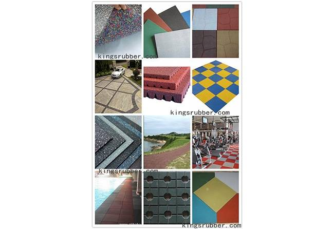 rubber paver/rubber tile