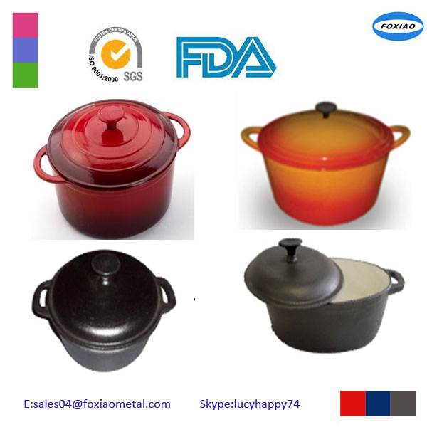 Cooking Pot Colorful Cast Iron Casserole with Lid Enamel Casserole