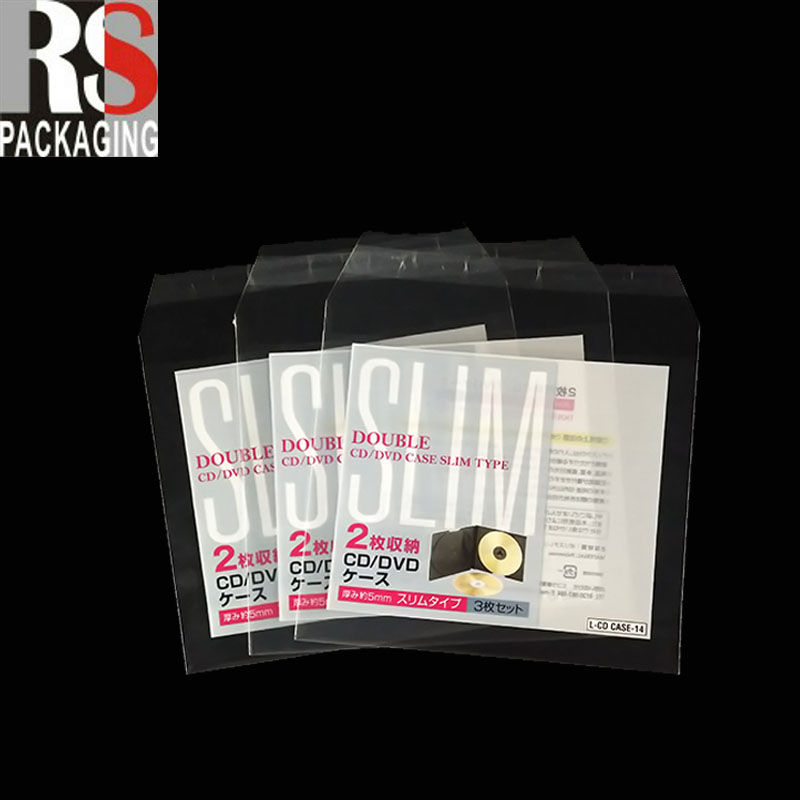 factory price clear low density merchandise bag for cd packaging