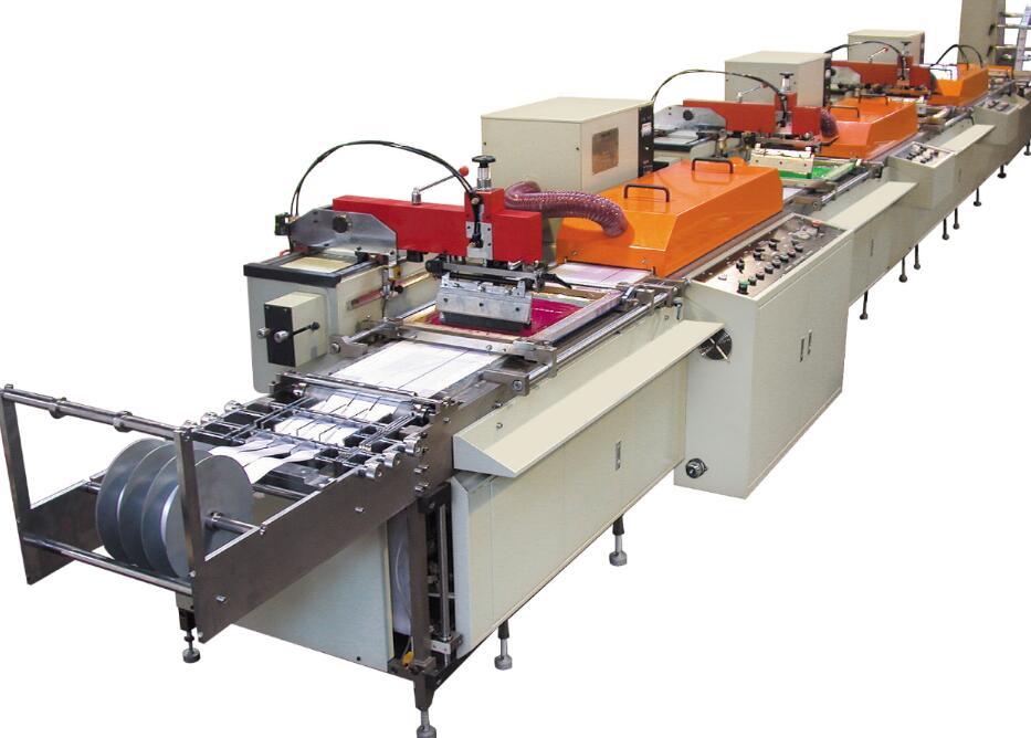 Multi-Color Silk Screen Satin Ribbon Care Label Printing Machine