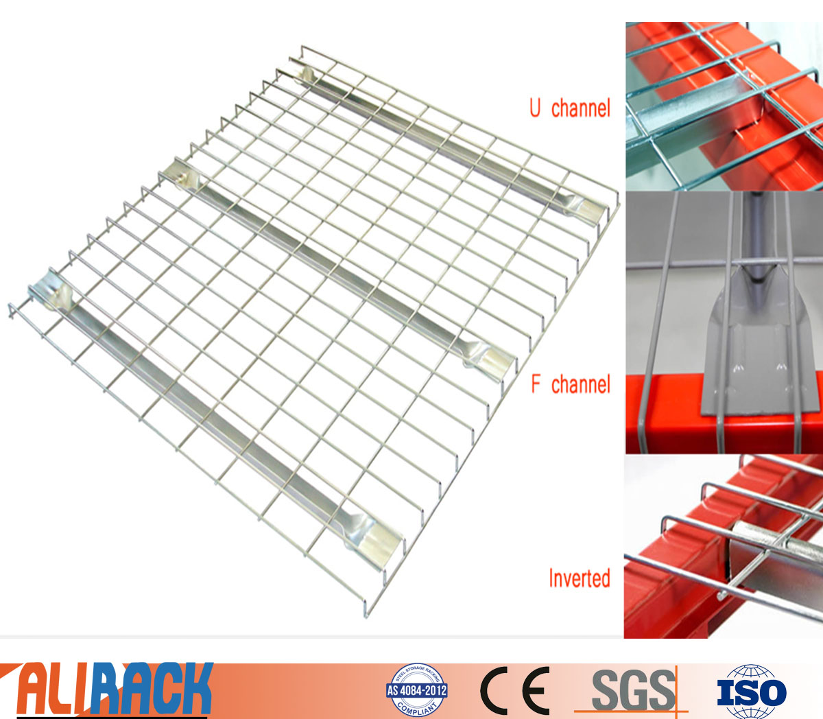 Ali Racking wire mesh decking wire shelving wire mesh deck for pallet racking zinc plated