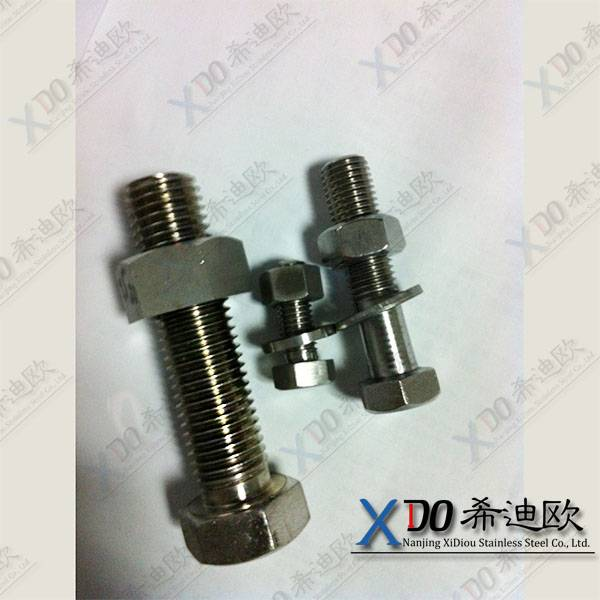 duplex 2507 China hardware din standard stainless steel hex bolt and nut