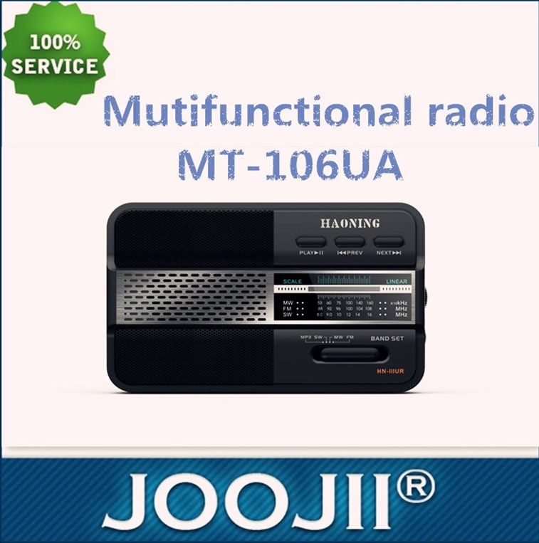 FM/AM/SW 3 band radio with USB port &SD card slot Mutifunctional radio