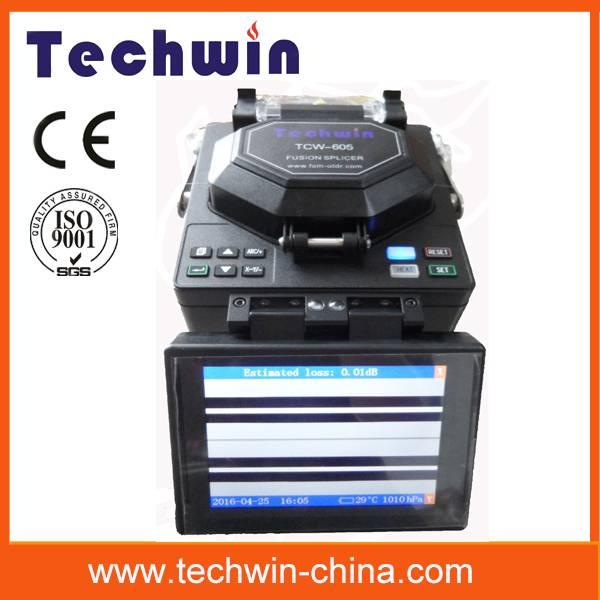 Techwin high precision 8s fiber optic fusion splicer TCW-605