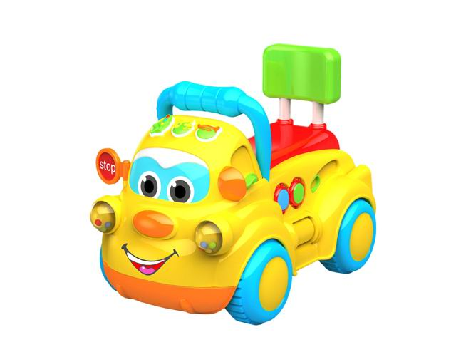 Electronic musical ride on toys car