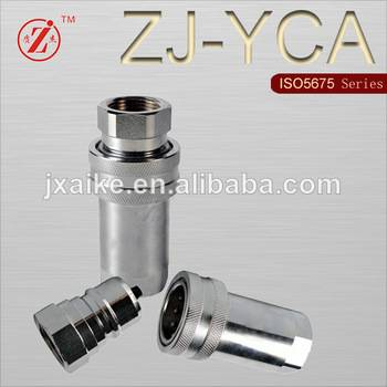 ISO 5675 steel ball valve hydraulic quick coupling