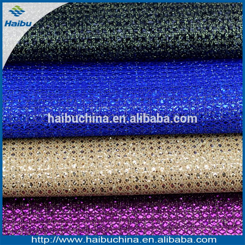Shining Diamond Pattern PVC Leather for Making Shoes