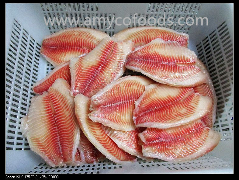 Co treated tilapia fillet IVP packed