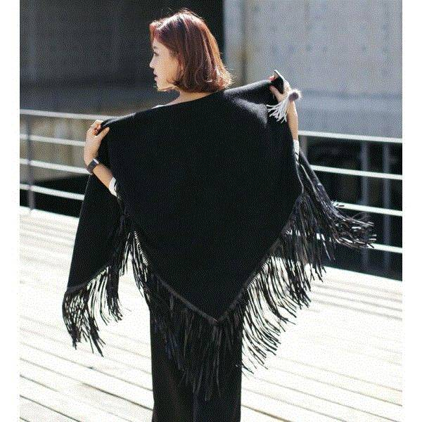 Europe fashion triangle wool tassel multipurpose shawlv