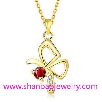 Gold Plated Costume Fashion Zircon Jewelry Women Necklaces