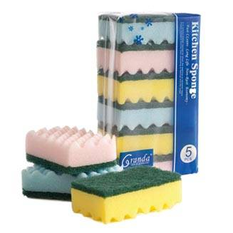 Light Duty Hand Sponge Pad, Kitchen Scouring Sponge