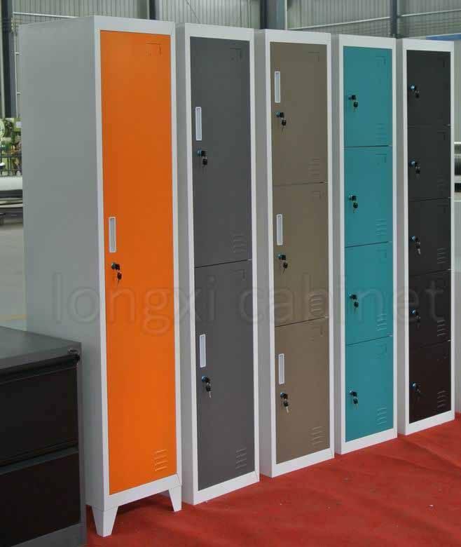 gym school workshop changing room used 1,2,3,4 doors metal locker